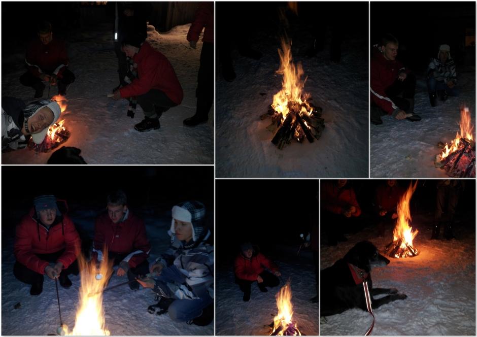 marshmallows met Rineke,Ad,Joris,Lucas,Rick,Johan,Marga