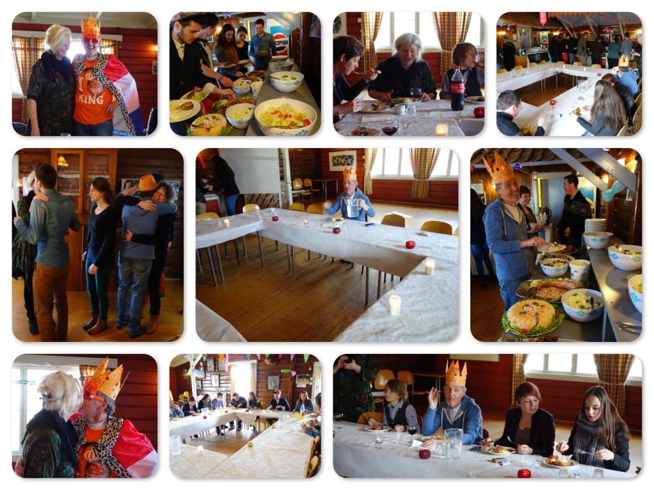 Voor de Nederlandse gasten  werd door een lokale kok, traditioneel Noors eten geserveerd.  For de nederlandske gjester var av en lokal kokk,  tradisjonell mat  servert.