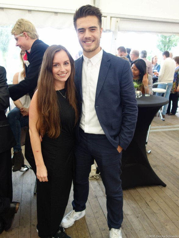 Lisa Derckx met haar vriend Karel Sprenger